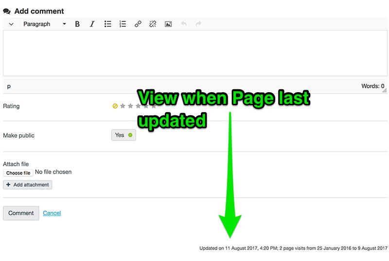 View when studentfolio page last updated