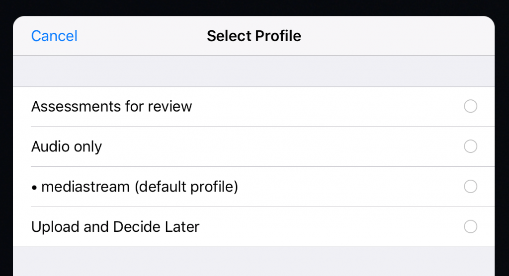 A screenshot of Techsmith Fuse (iOS app)