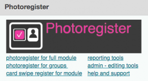 Photo Register in studentcentral