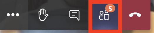 Screenshot of task bar showing particiapnts button