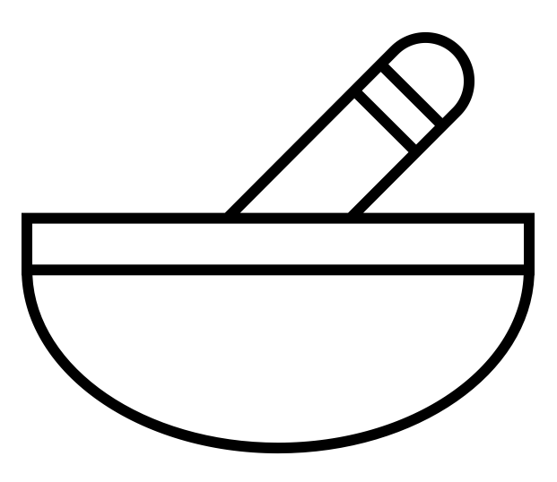 mortar and pestle for preparation