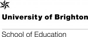 School of education logo: University of Brighton in words with a star above the U and school of education written underneath