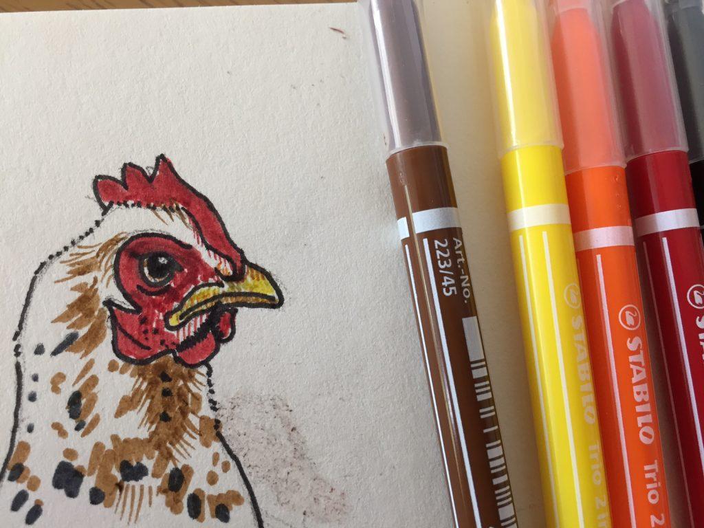 Lucie - the MilleFleur Pekin Chicken