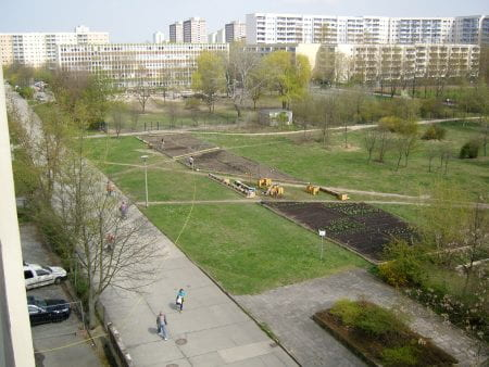 The Big Bed at Spiel/Feld Marzahn seen in 2011 (source: Katrin Bohn 2011)