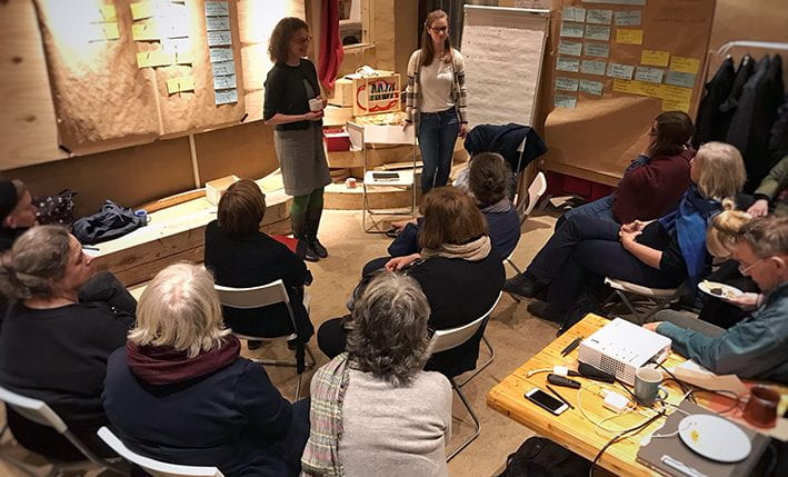 Participants discuss the potential use and usefulness of the new platform in several break-out sessions. (source: ScholzConstructors 2019)