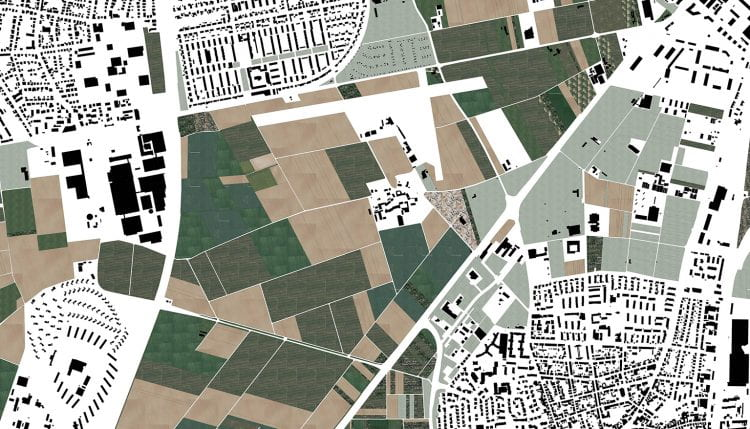 The Urban Agriculture Park borders several local (urban) neighbourhoods and consists of a patchwork of different fields owned and used by a multitude of stakeholders. (source: Bohn& Viljoen and IBA Heidelberg 2016)
