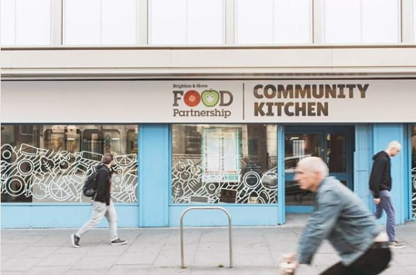 The Community Kitchen on Queen's Road in Brighton (source: Brighton & Hove Food Partnership www 2019)
