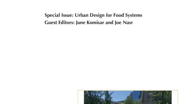 Cover of the publication (source: Urban Design International www 2019)