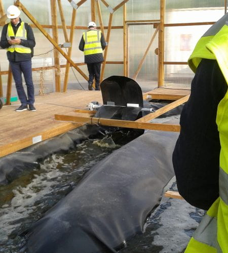 COST Circular Cities visited a biofiltration pilot plant in Hiedanranta, near Tampere, which mimics nature's own purification systems. (source: Bohn 2019)