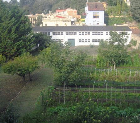 The Catalan City of Girona contains many functioning urban agricultural sites such as this food-productive garden at the Monastery San Daniel. (source: Katrin Bohn 2019)