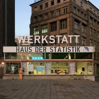 The Werkstatt of Haus der Statistik on Karl-Marx-Allee in Berlin (source: Haus der Statistik www 2020)