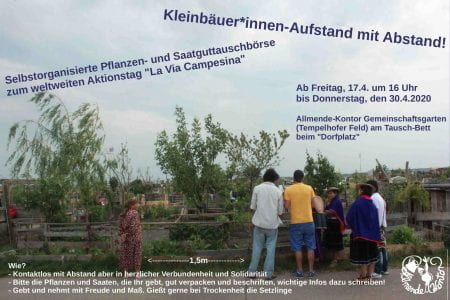 Extract of the flyer advertising the seed exchange at Allmende-Kontor (source: Allmende-Kontor 2020)