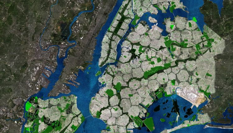 Drawing showing part of New York City (Steady) State (source: terreform www 2020)