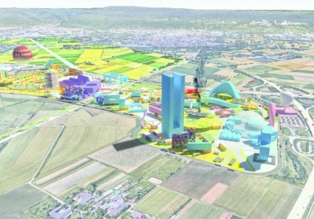 Four scenarios were explored in the project's ideas phase among them one on science and economy. (source: MVRDV 2018)