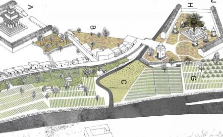 The Edible Playground and the Sacred Fields: spatial imaginary for the Bagmati riverbanks in Kathmandu (source: Mitchell, M. and Iglesias, A.R. www 2019)