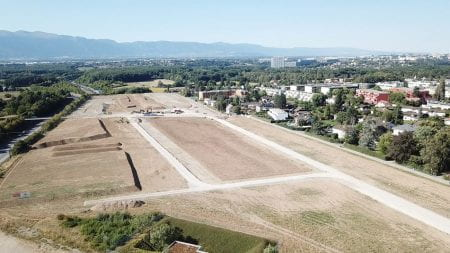 Building work at the future Parc Agro-Urbain in Bernex in June 2020 (source: Verzone Woods Architectes 2020)