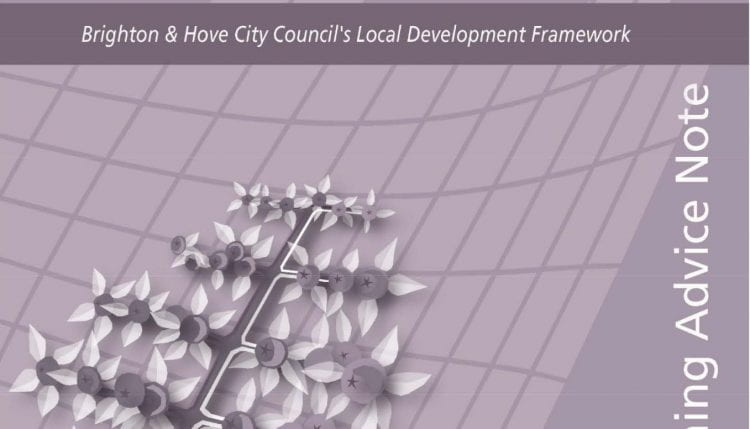 Cover of the 2020 Planning Advisory Note 06 on Food Growing and Development adopted by Brighton & Hove City Council (source: B&HCC 2020)