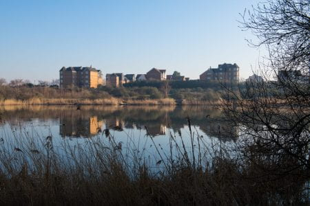 Thamesmead is home to about 45,000 people. (source: Architect's Journal www 2021)