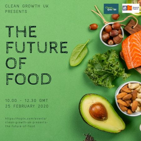 The event will be held online on Thursday 25th February. (source: Clean Growth UK 2021)