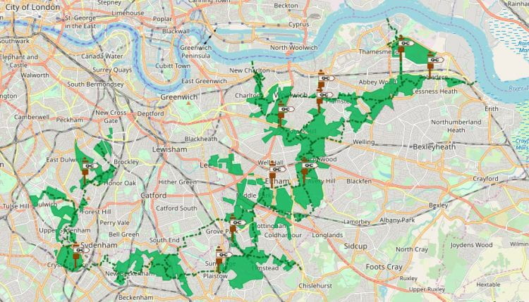 The South East London Green Chain is being discussed in the paper by Katrin Bohn and Dong Chu. (source: Greenchain.com www 2019)