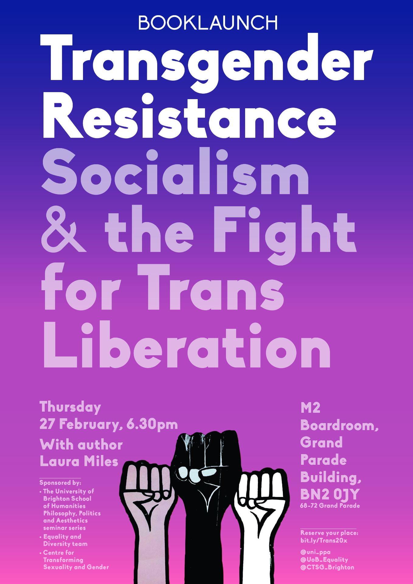 PPA seminar on Transgender resistance
