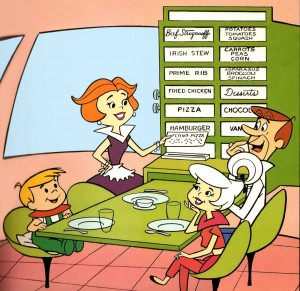 The Jetsons. American animated sitcom (1962). Instant replicated food - out of this world!