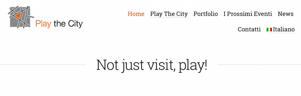 Main page of the site | http://www.playthecity.it/
