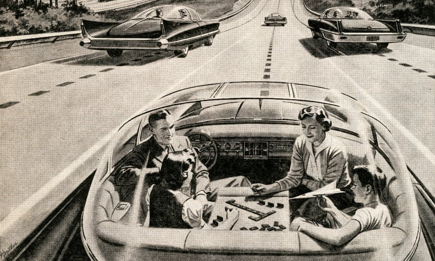 1950s depiction of driverless cars