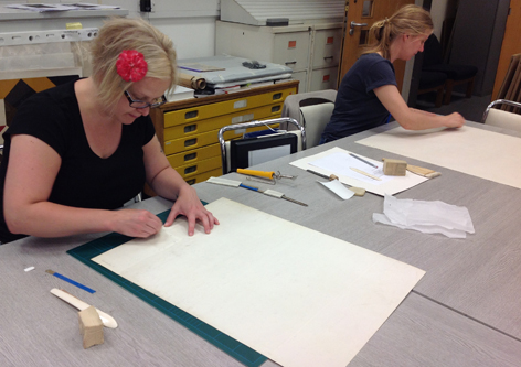 Surface cleaning, conservation, University of Brighton Design Archives, Sirpa Kutilainen
