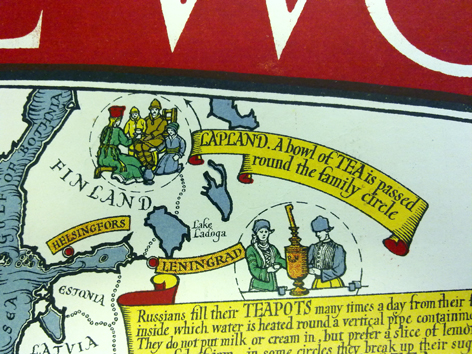 Tea Revives the World, detail, Max Gill, University of Brighton Design Archives, Sirpa Kutilainen