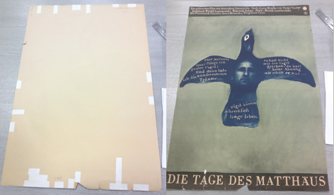 Icograda archive, poster, conservation, University of Brighton Design Archives, Sirpa Kutilainen