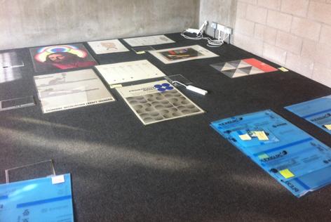 Icograda archive, exhibition, frames, University of Brighton Design Archives, Sirpa Kutilainen
