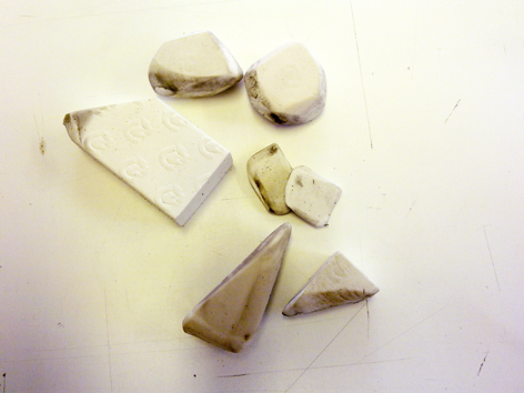 Rubbers, conservation, University of Brighton Design Archives, Sirpa Kutilainen