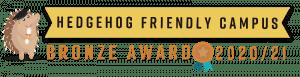Hedgehog Friendly Campus: Bronze Award 2020/21