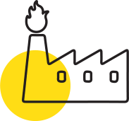 icon showing factory burning gas
