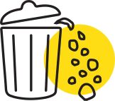 icon showing overflowing dustbin