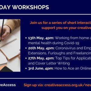 Creative Access Wednesday Workshops