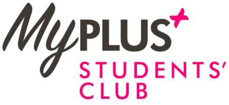 Logo saying my plus student club