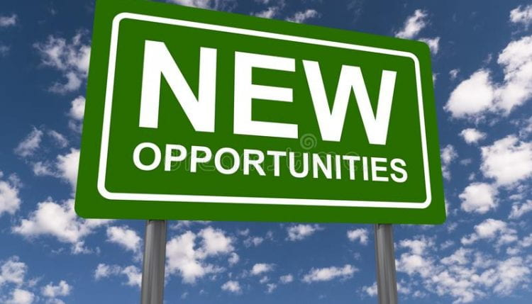 A street sign saying new opportunities