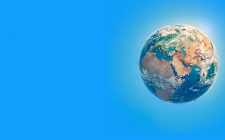 A cartoon image of planet earth