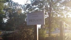 Cumberland Lodge notice