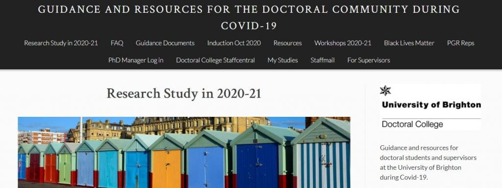 Image of Doctoral College CV19 blog