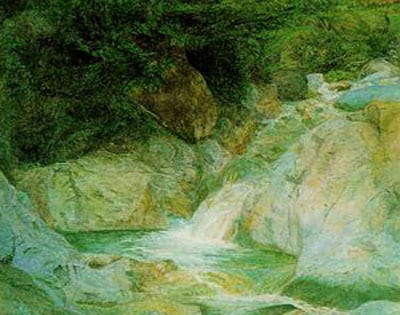 John Ruskin [Public domain]Waterfall at Brantwood by John Ruskin