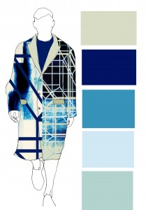 using my print into menswear illustration to show how this outfit wold work.