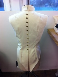 Police button bodice back