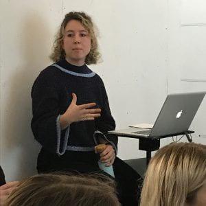 Chloe Laurence presenting