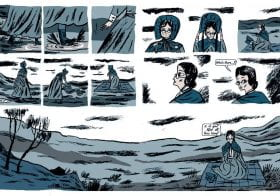 """BA Hons Illustration Alumni Isabel Greenberg's Graphic Novel """"Glass Town"""" is featured in the Guardian 2nd Feb"""