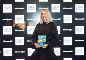 BA Hons Fashion with Business Studies graduate Ella Hall wins the Accessories Award at Graduate Fashion Week