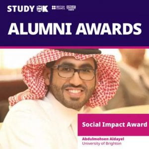 Brighton graduate among finalists in global Alumni Awards