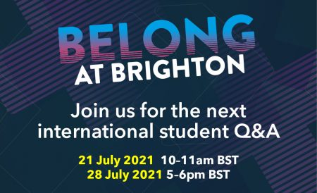 Belong at Brighton international Q+A hosted on 21 and 28 July